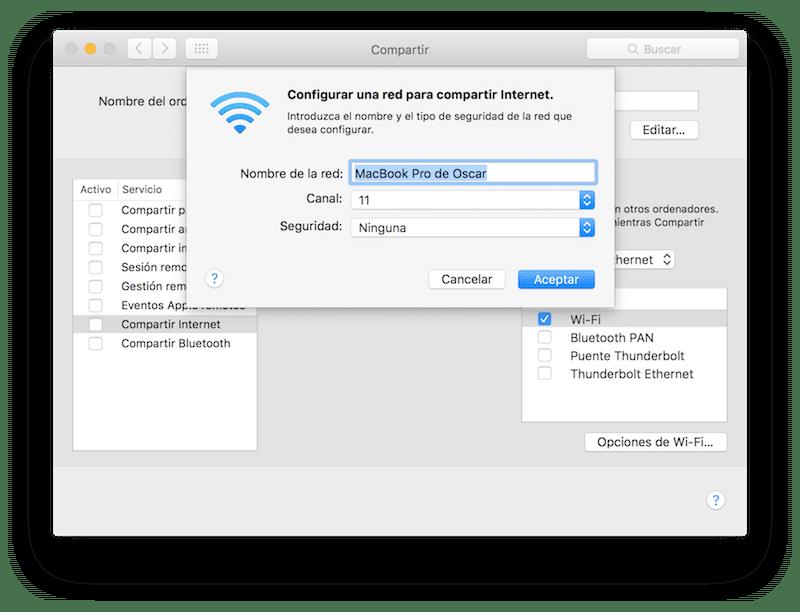 Como Compartir internet para crear una red Wi-Fi 3:4