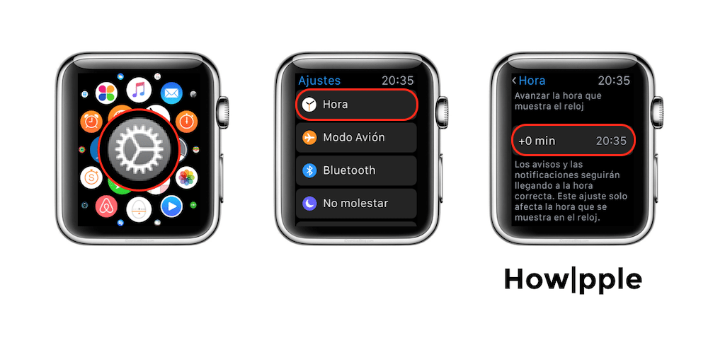 Apple Watch Adelantar hora