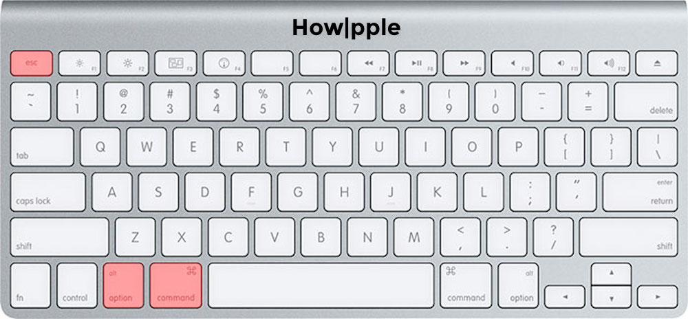 botones para forzar salida mac