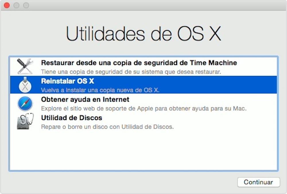 Restaurar Mac OS X