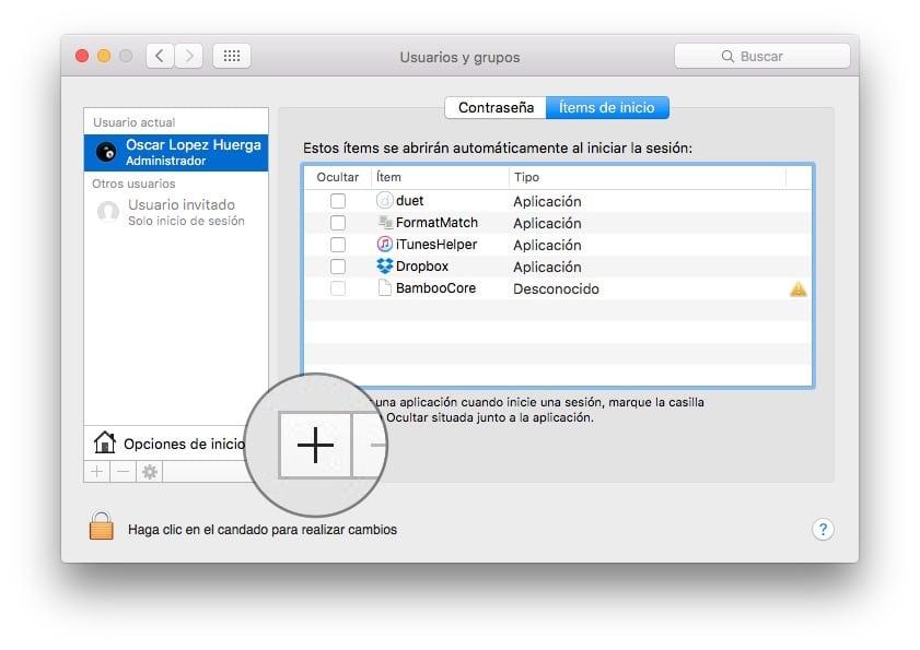 Personalizar sonido arranque Mac Añadir inicio