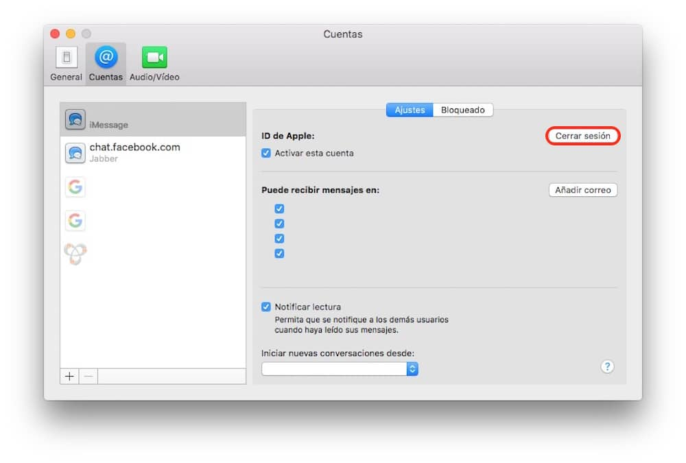 Restaura Mac mensajes