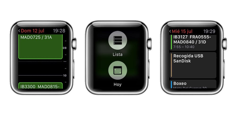 Apple Watch Calendario lista