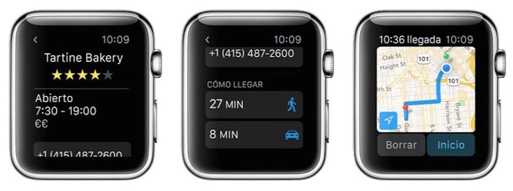 Como usar mapas en Apple Watch