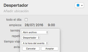 Programar calendario Automator-Howpple