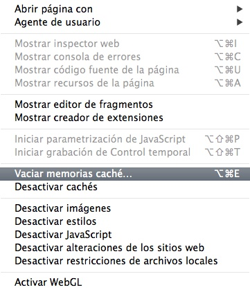 Safari Mac Vaciar Cache-Howpple