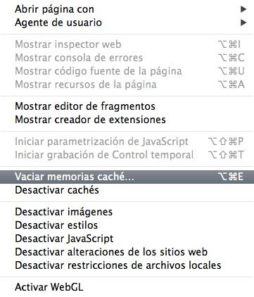 Safari Mac Vaciar Cache-Howpple