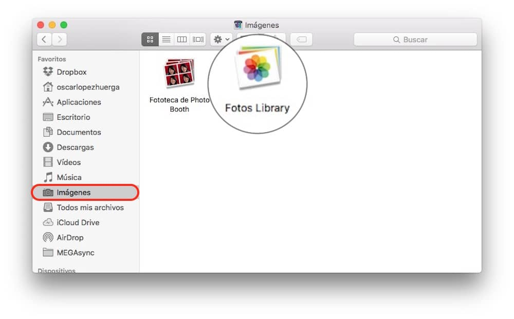 Trasladar libreria Fotos liberar espacio Mac-Howpple