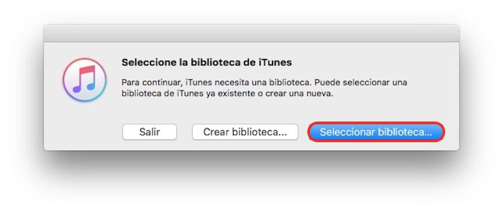 Trasladar libreria iTunes Seleccionar destino-Howpple