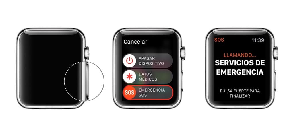 como configurar llamada de emergencia Apple Watch-howpple