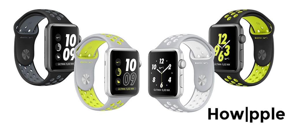 modelos Apple Watch Series 2 Nike-howpple