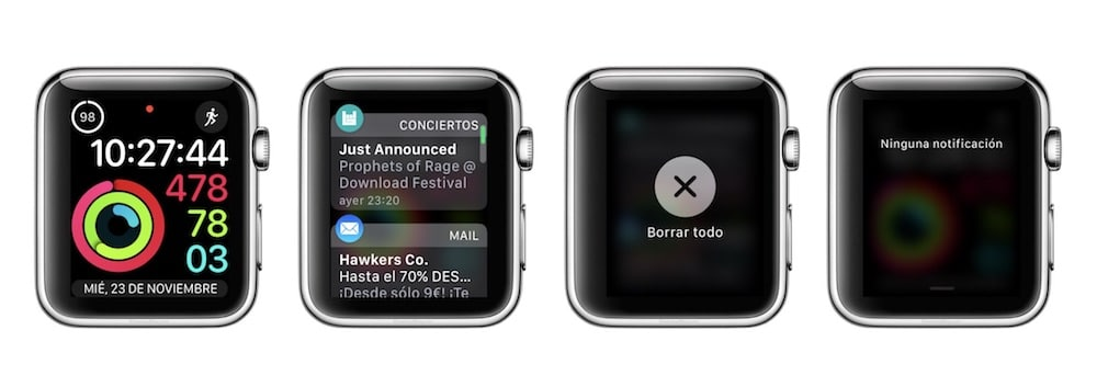 eliminar todas las notificaciones del Apple Watch