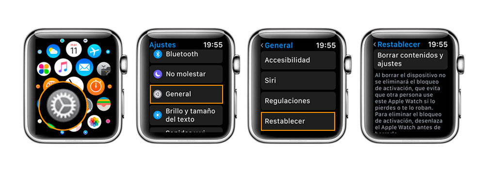 Como resetear el Apple Watch-Howpple