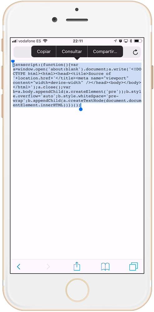 JAVA para ver código HTML en iPhone