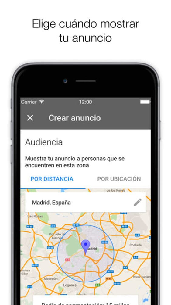 localización Adwords Express