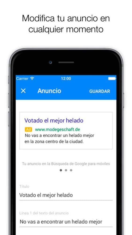 Nuevo Adwords Express para iOS