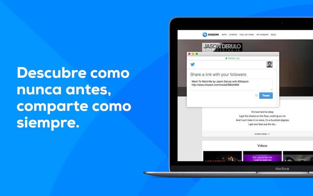 Shazam Para Mac Compartir