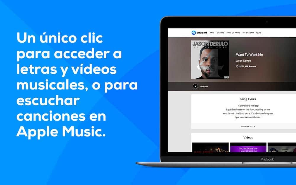Shazam Para Mac Letras canciones