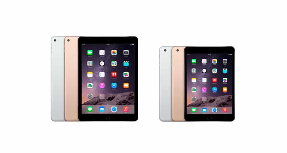 Nuevos iPad Air 2 y iPad Mini 3