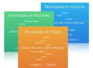 Nueva actualización iWork en iCloud
