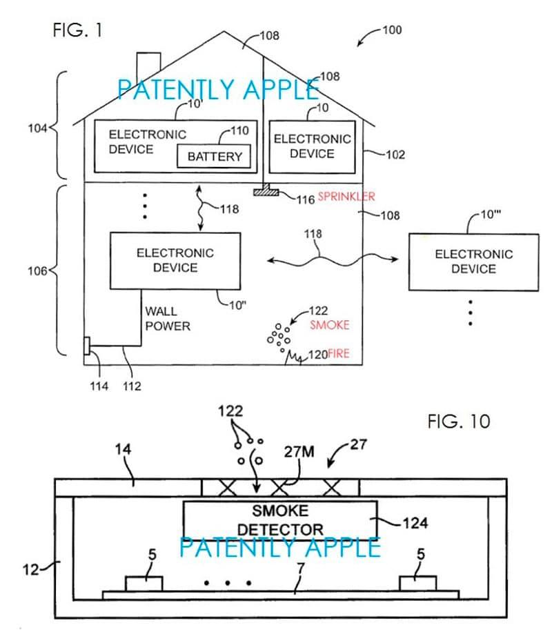 Nueva patente de Apple de detectores de humo