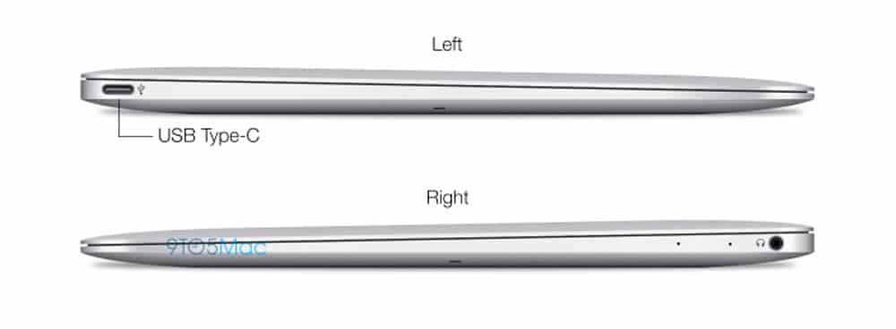 Laterales del posible nuevo MacBook Air de 12 pulgadas