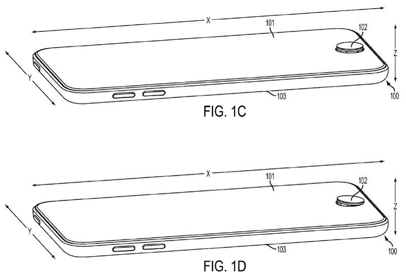 Vista aerea Patente Apple para convertir botones home en Joystick