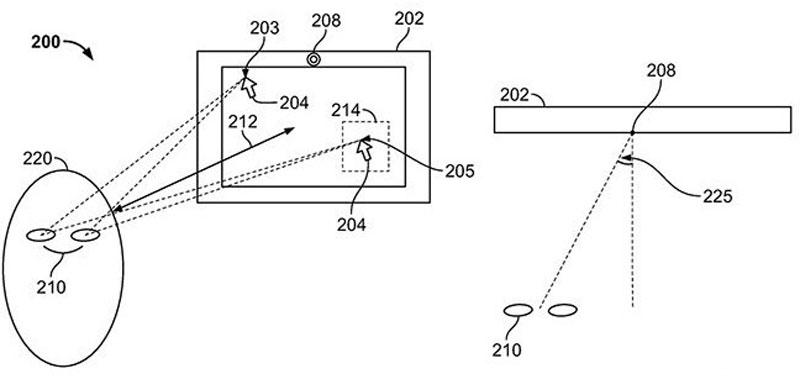 patente Apple para mover con la vista