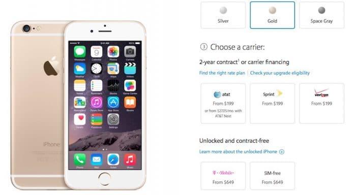 iPhone 6 sin SIM