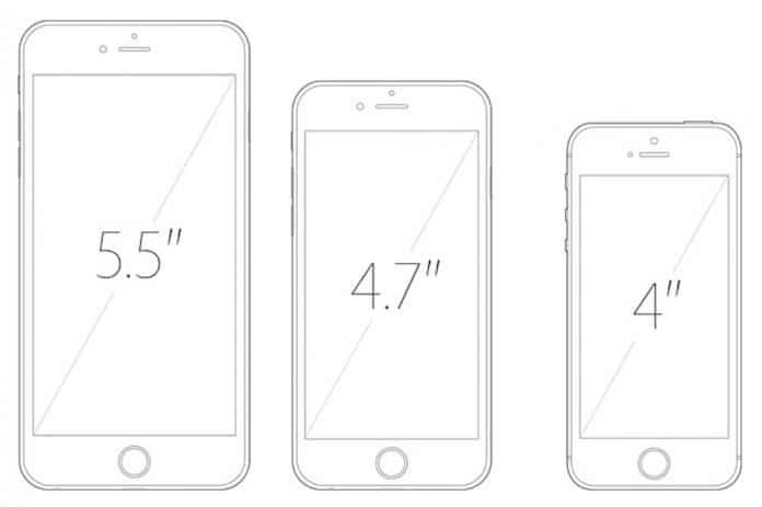 iPhone 6S Tamaños