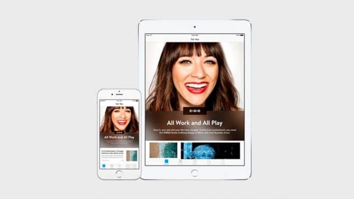 Aplicación Apple News en iPhone