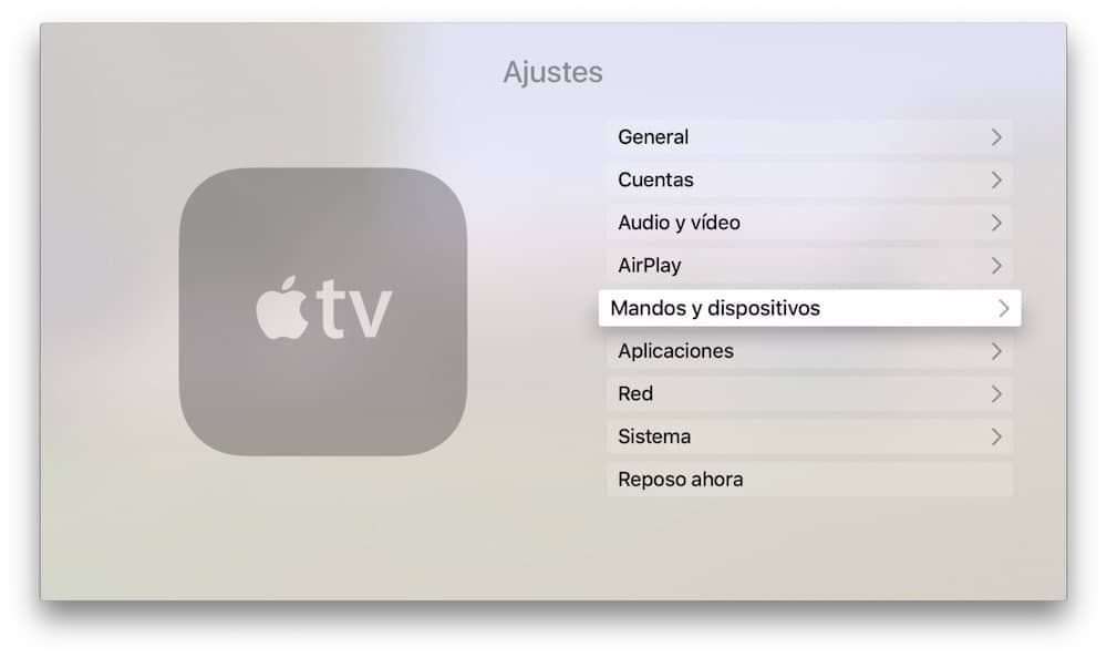Apple TV Mandos y Dispositivos