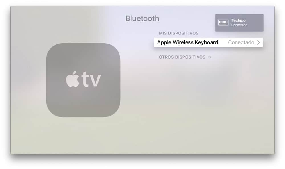 Apple TV Teclado Bluetooth Conectado