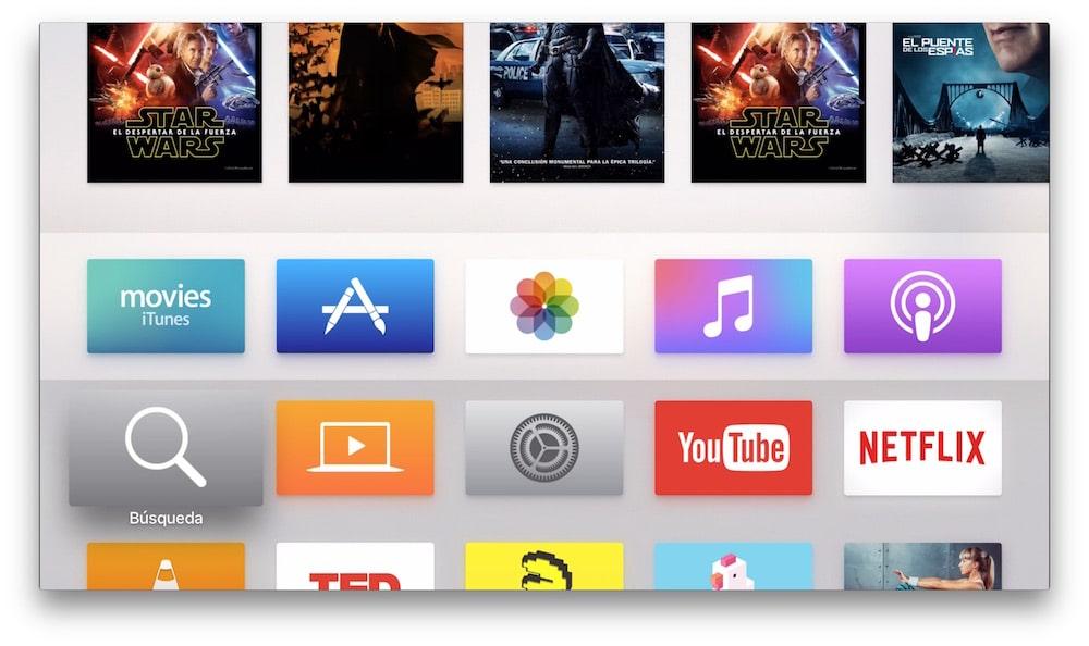 Crear carpetas en Apple TV Inicio