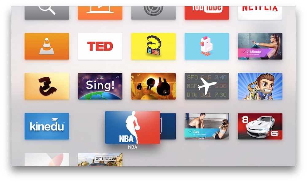 Crear carpetas en Apple TV arrastrar App
