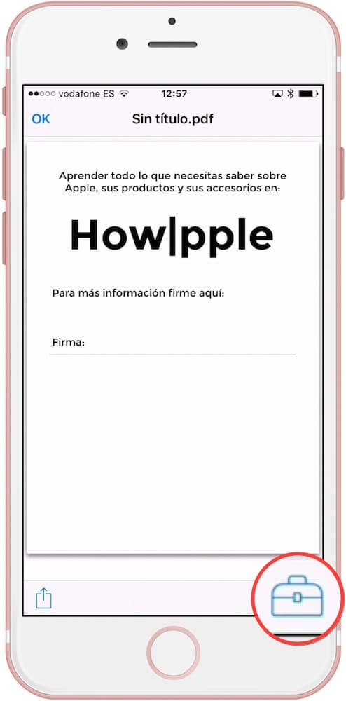 Firmar documentos en iOS editar