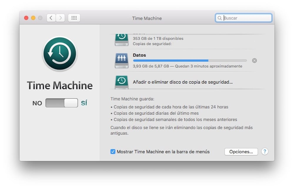 Restaurar Mac Backup