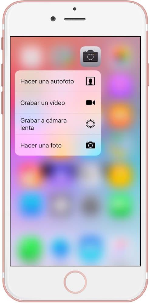 iPhone 6S Selfie Acción rápida