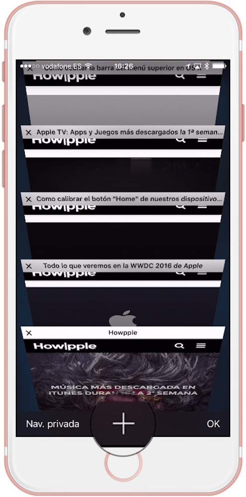 Safari iOS Navegacion Pestañas