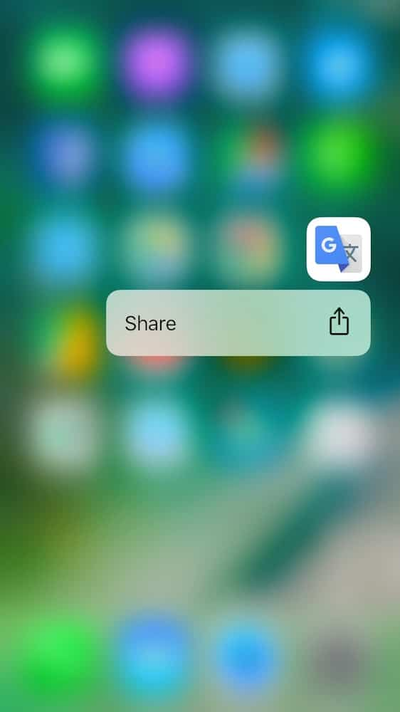 iOS 10 3D Touch Apps Terceros