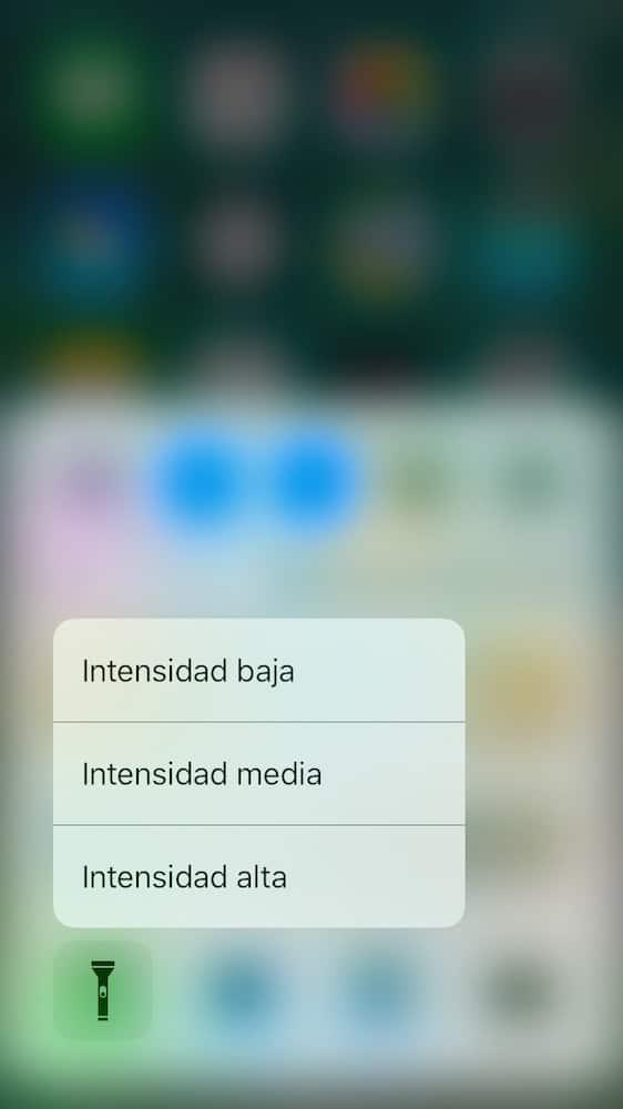iOS 10 3D Touch Linterna