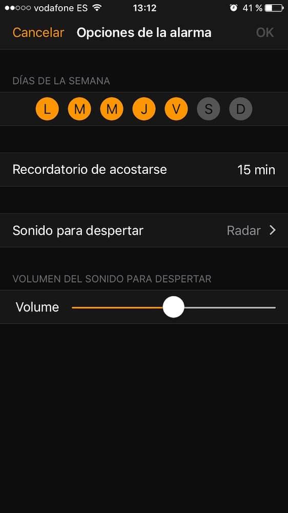 iOS 10 Acostarse Programar