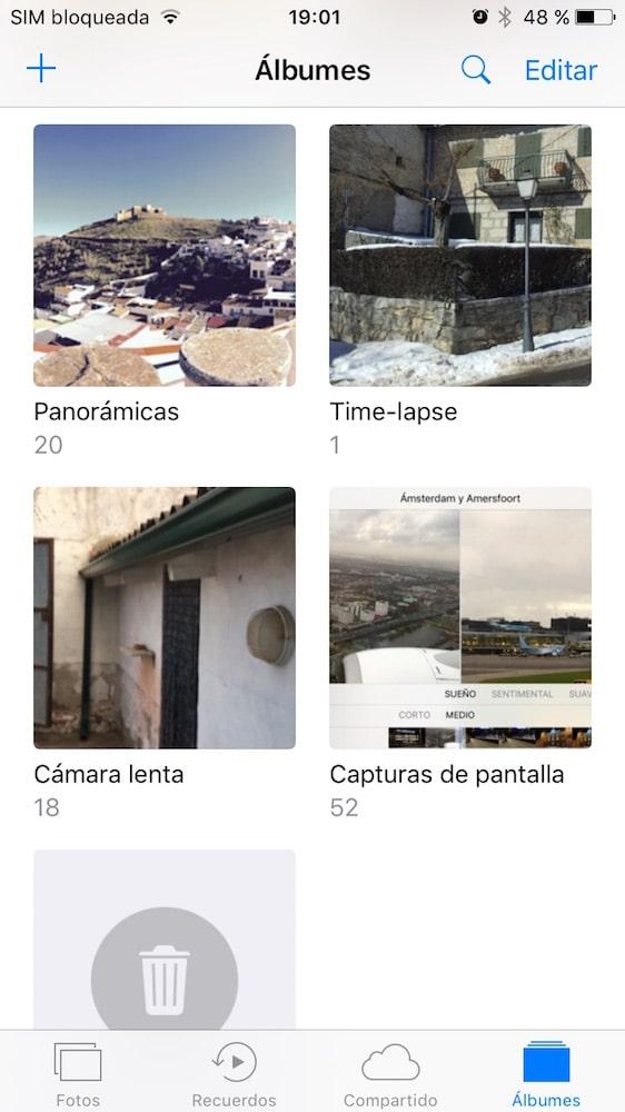 iOS 10 Fotos carpetas