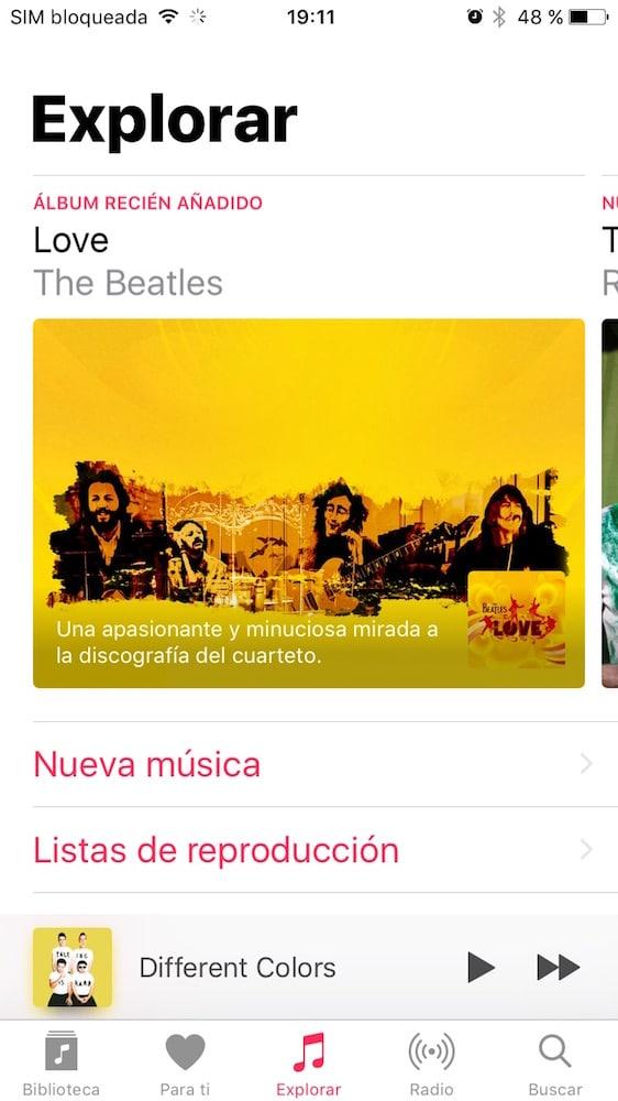 iOS 10 Música Explorar