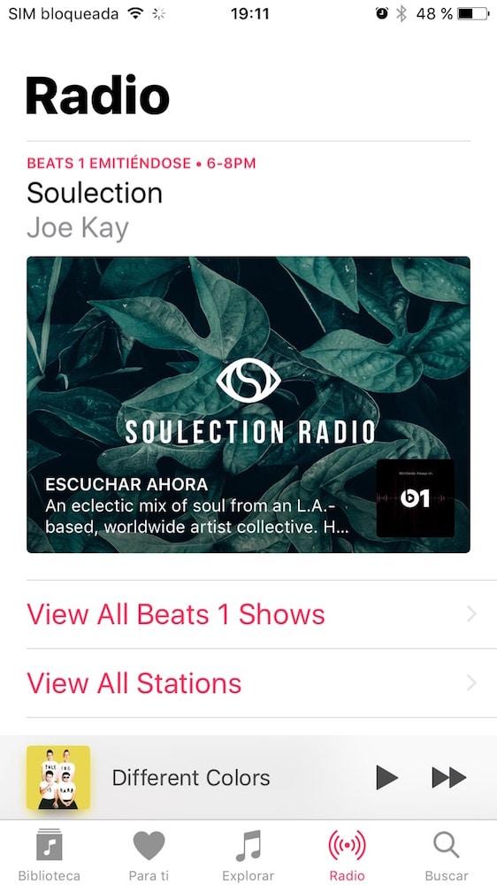 iOS 10 Música Radio