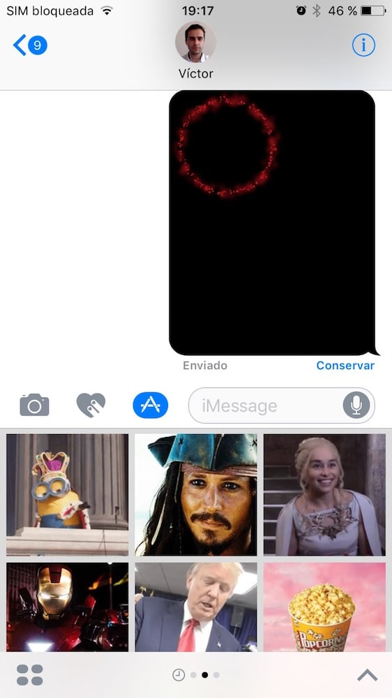 iOS 10 Mensajes 5