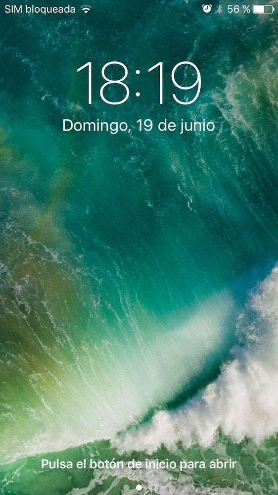iOS 10 Pantalla Bloqueada