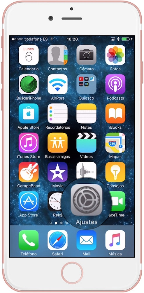iOS Ajustes