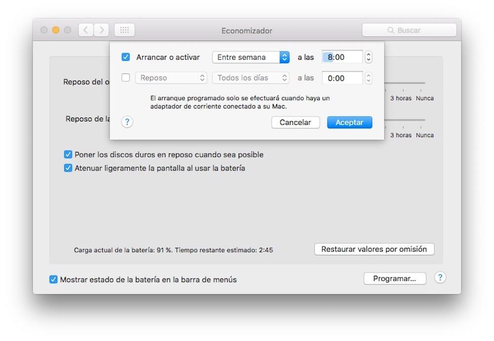 Economizador Despertador Mac-Howpple