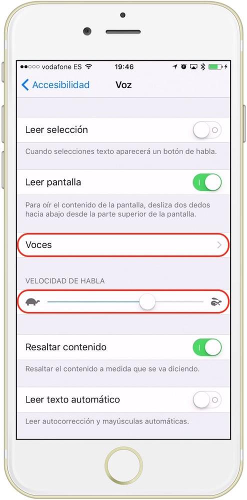 iOS Voz Lectura Pantalla-Howpple